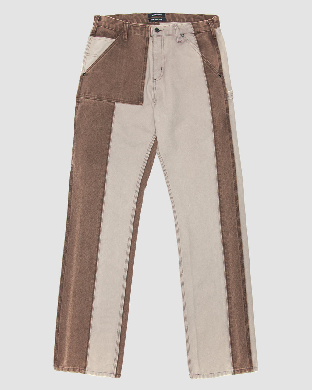 Patchwork Construction Trouser in Grey