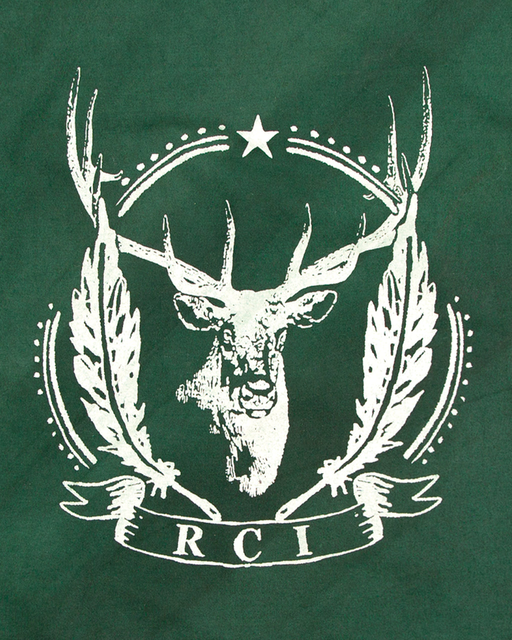 RCI Deer Print Cotton Bandana in Green