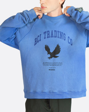 RCI Eagle Aged Crewneck Sweatshirt in Blue