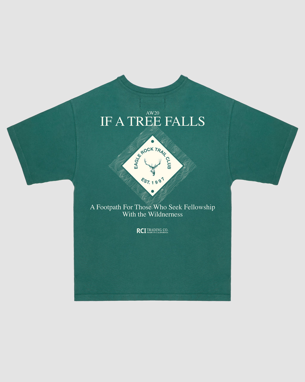 Eagle Rock Trail Club Tee Shirt in Green