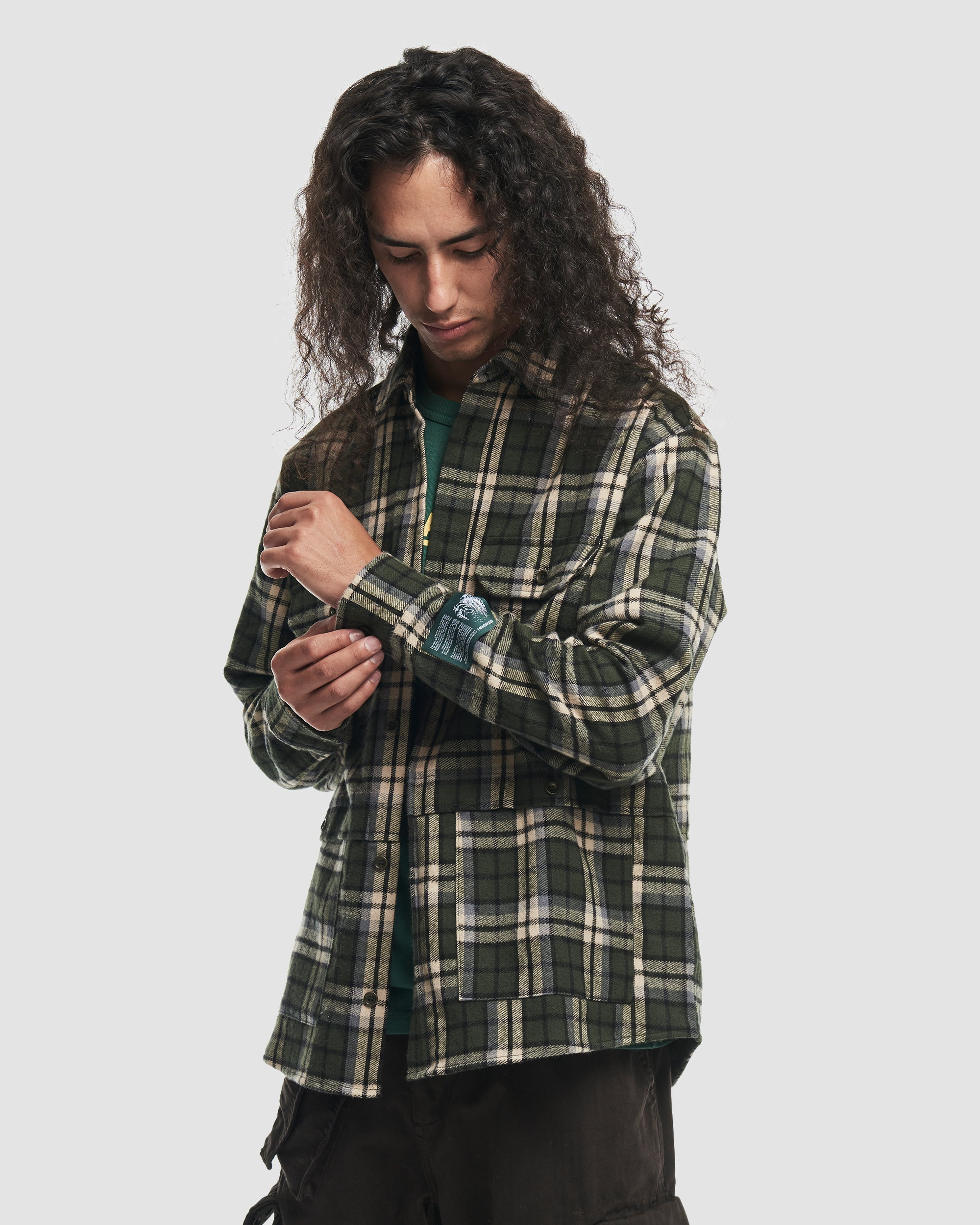 Flannel Shirt in Green