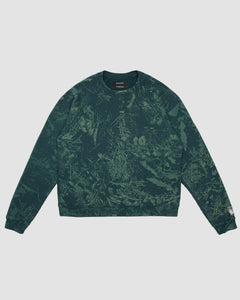 Forest Floor All Over Print Crewneck Sweatshirt in Green