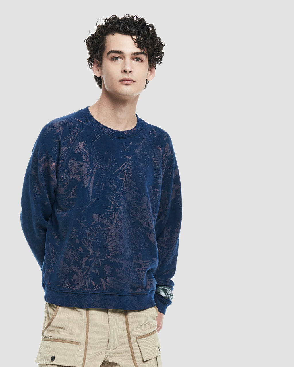Forest Floor All Over Print Crewneck Sweatshirt in Navy