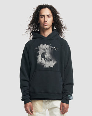 Forest Service Hooded Sweatshirt in Black