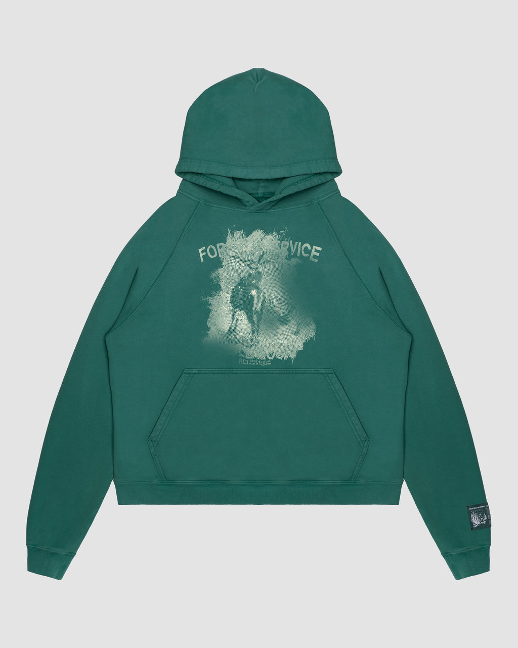 Forest Service Hooded Sweatshirt in Green