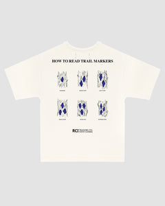 How To Read Trail Markers Tee Shirt in White