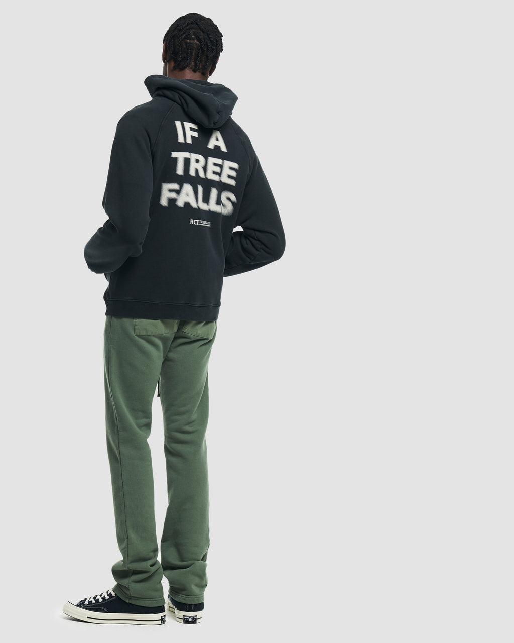 If A Tree Falls Hooded Sweatshirt in Black