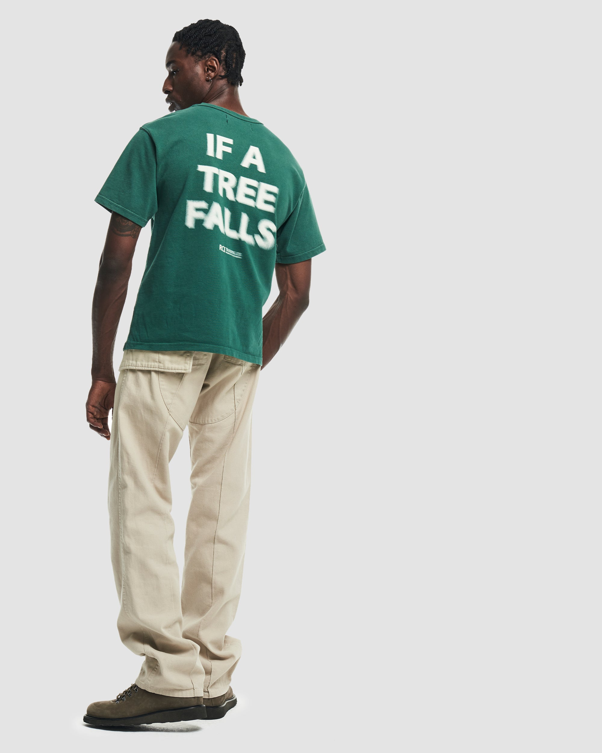 If A Tree Falls Tee Shirt in Green