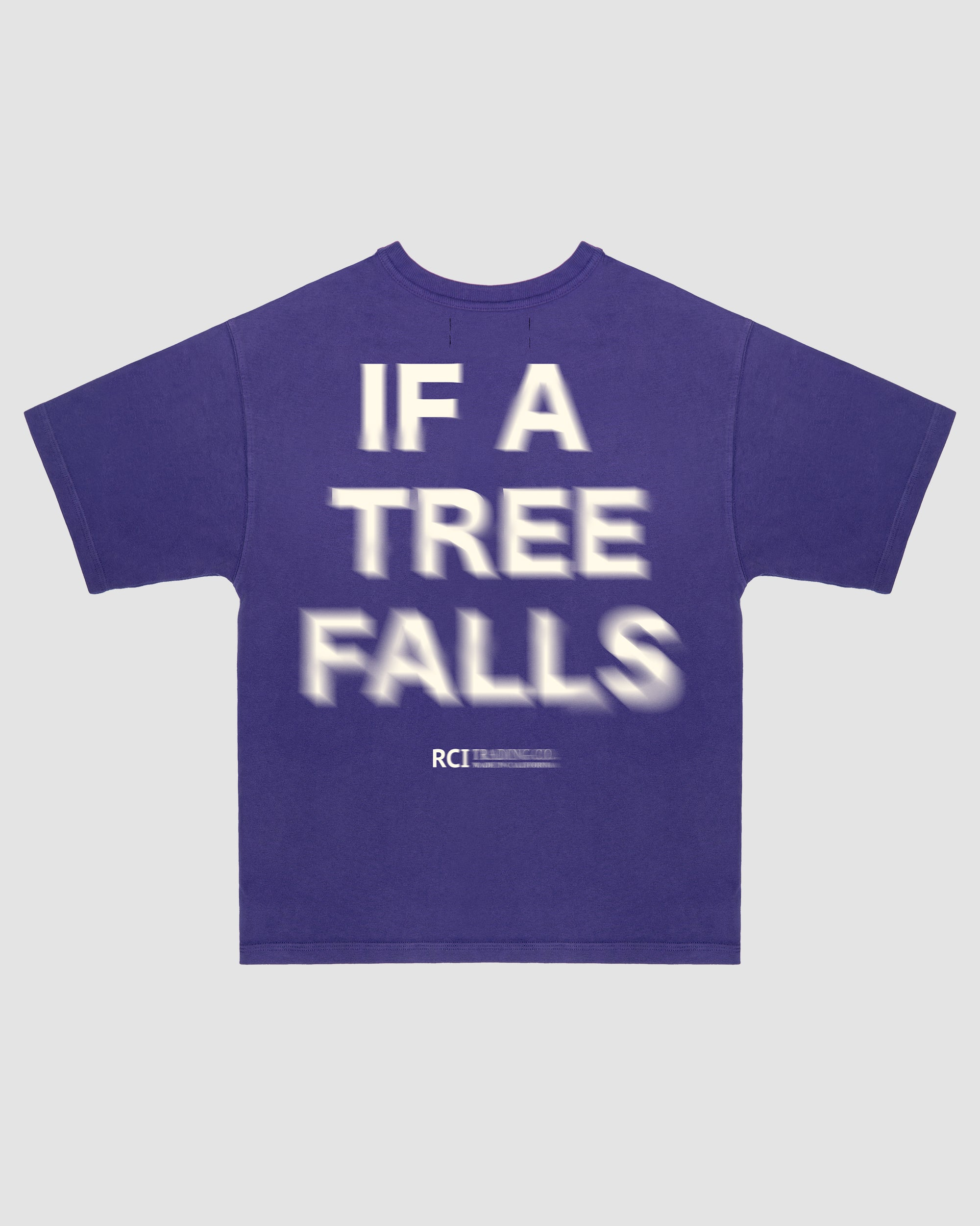 If A Tree Falls Tee Shirt in Purple