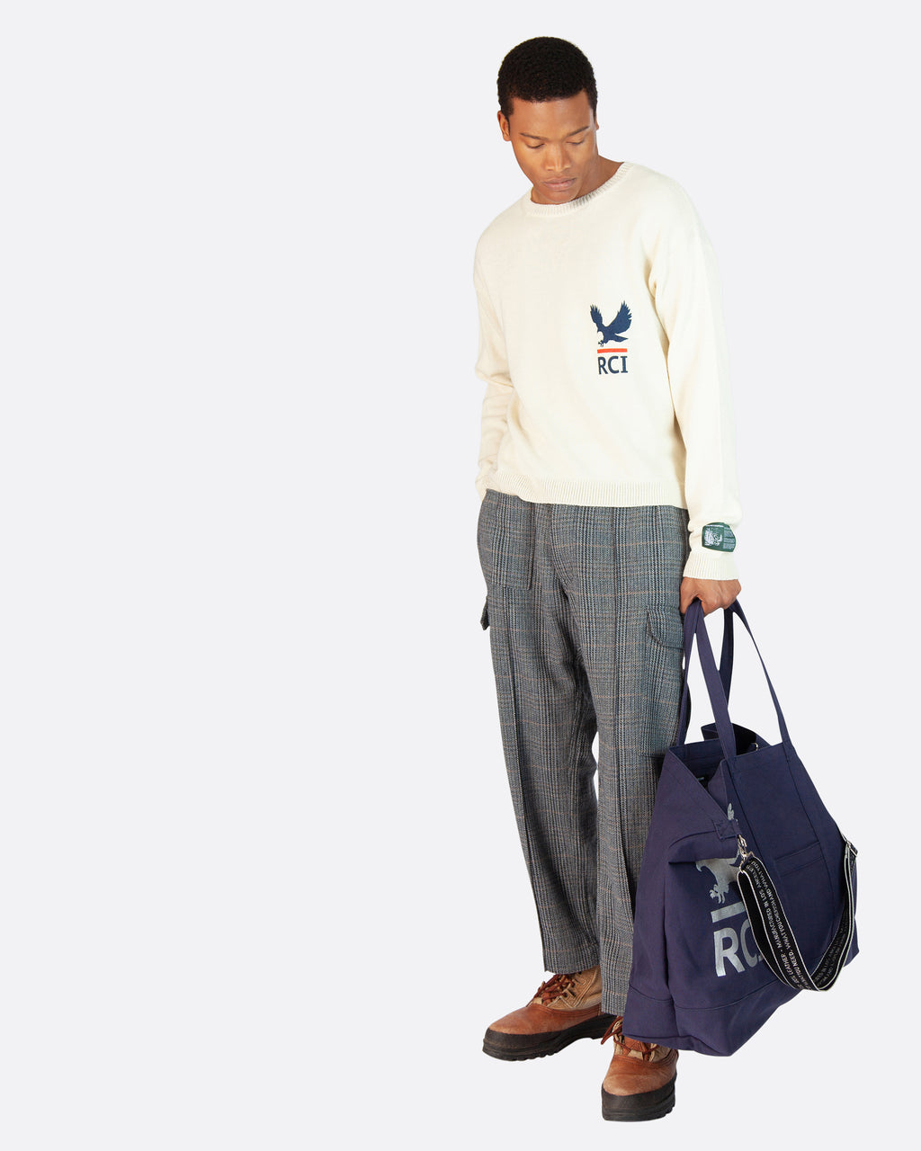 Postal Logo Oversized Tote Bag in Navy