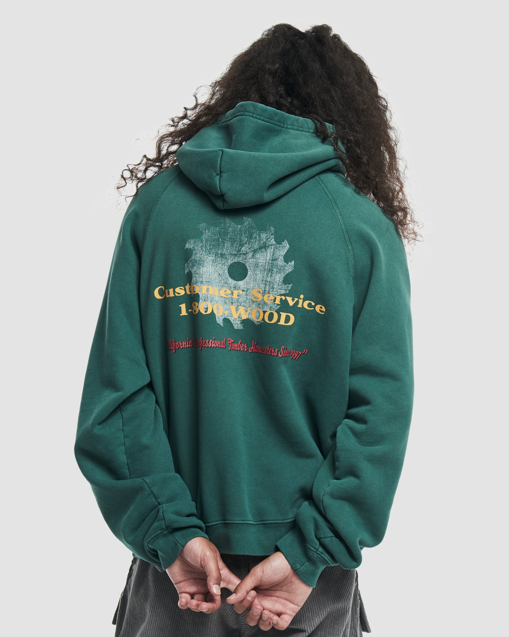 RCI Lumber Hooded Sweatshirt in Green