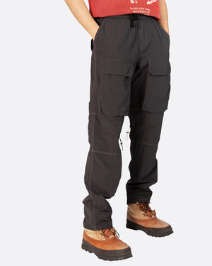 Nylon Cargo Trouser in Grey