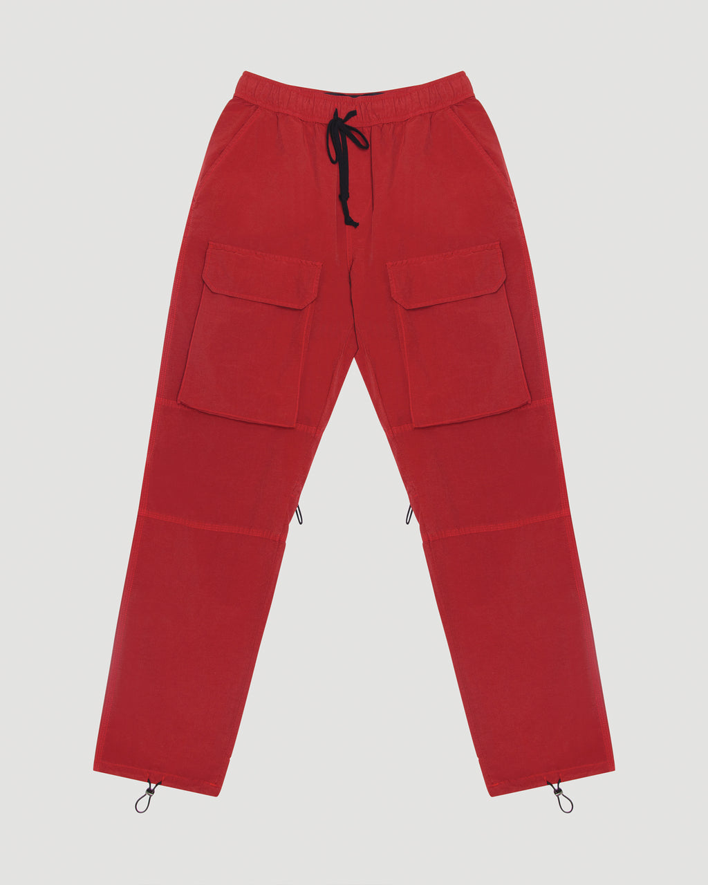 Nylon Cargo Trouser in Red