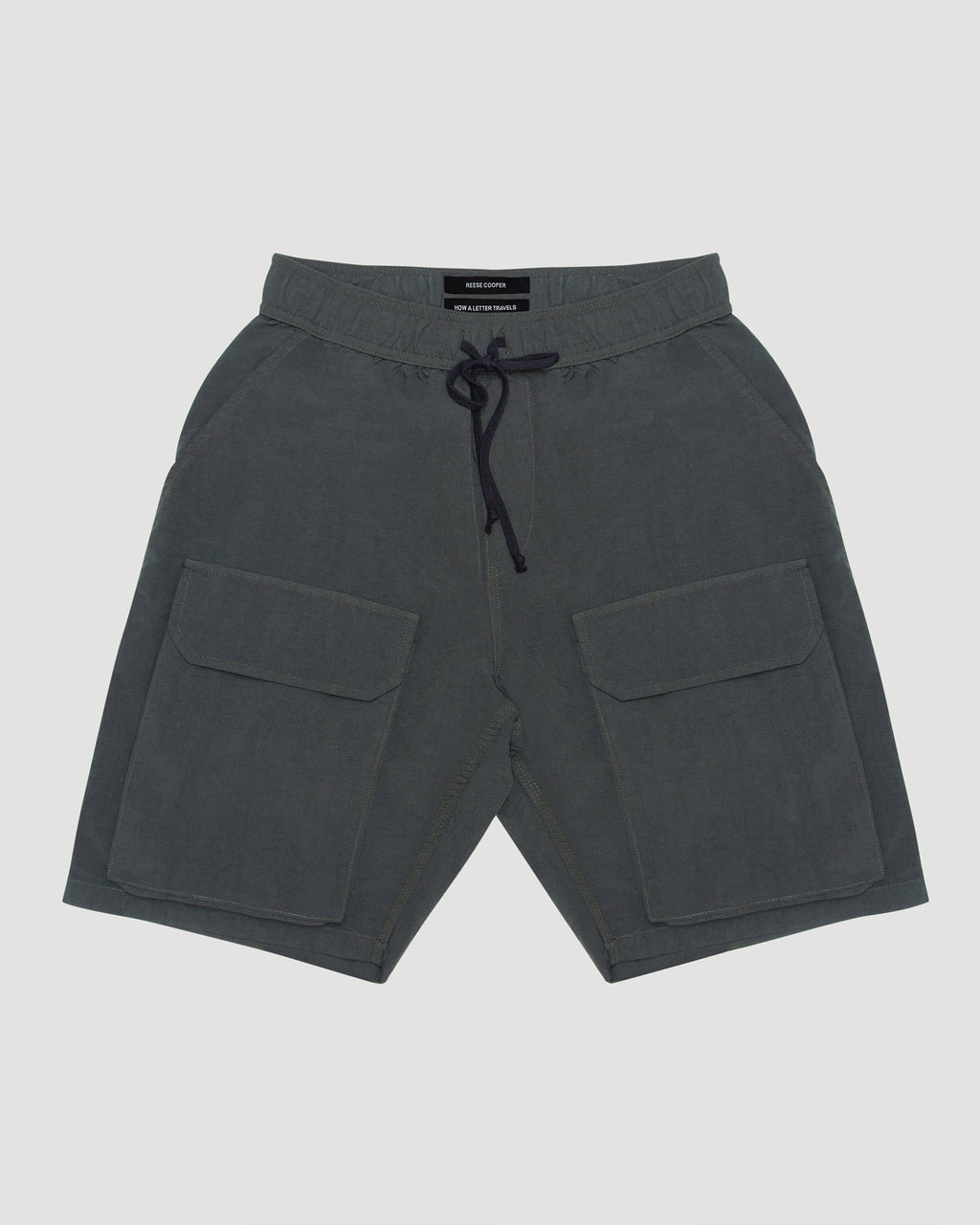Nylon Cargo Short in Green