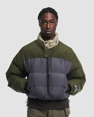 Colour-Blocked Puffer Jacket