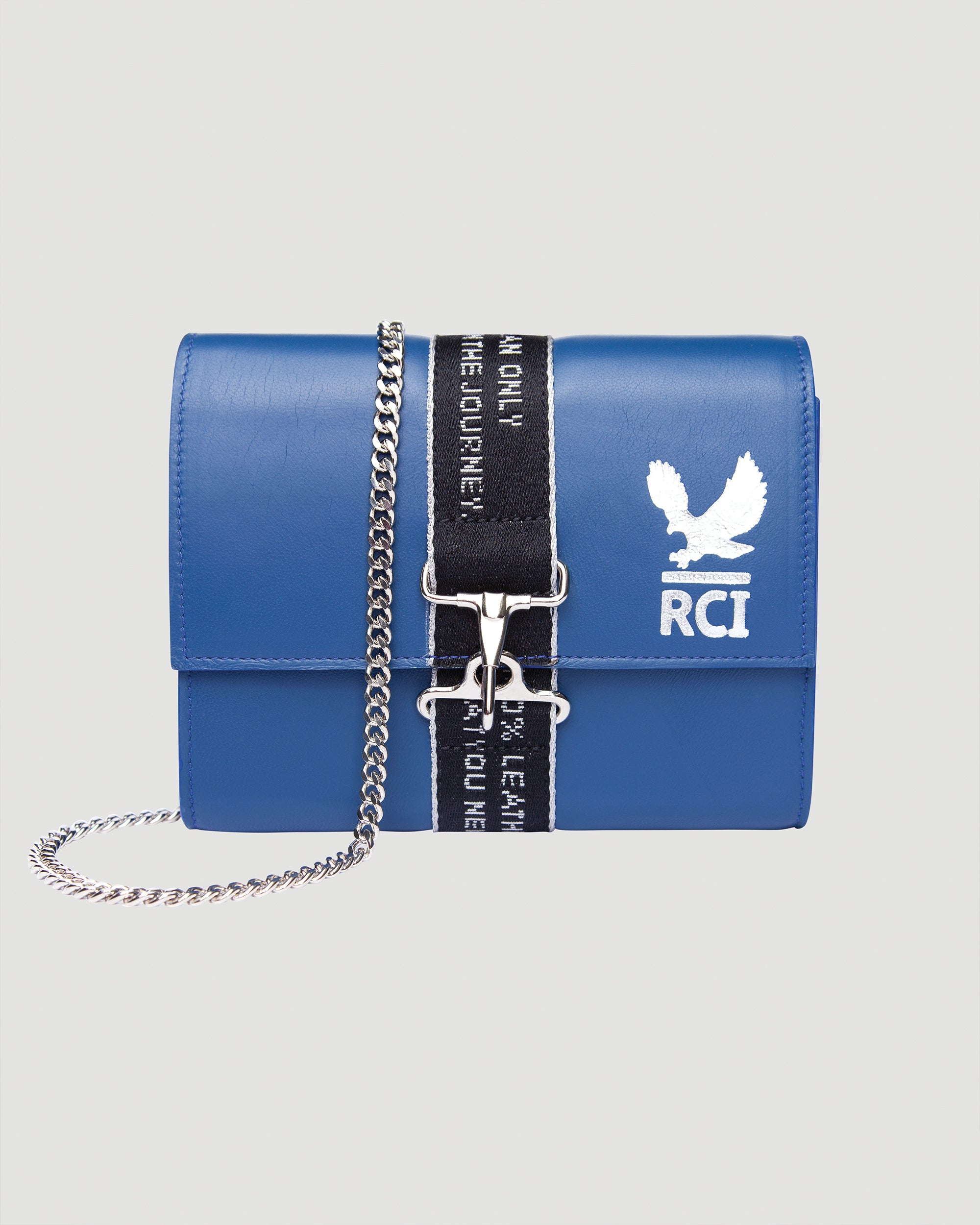Postal Logo Cross Body Bag in Royal Blue