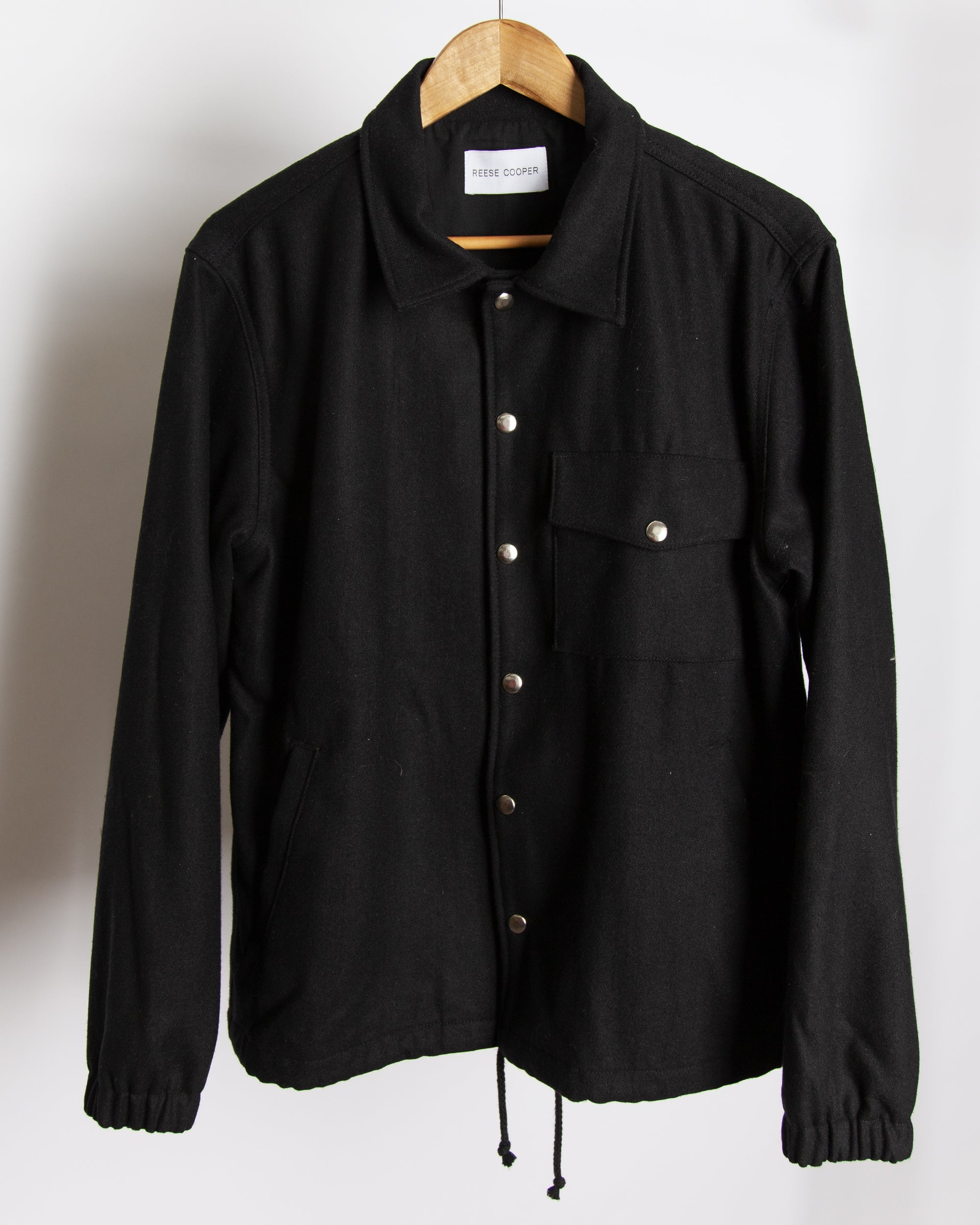 Spoiled Children - Wool Coaches Jacket in Black