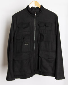 Spoiled Children - Wool Cargo Jacket in Black