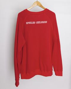 Spoiled Children - Chainstitch Embroidery Sweatshirt in Red