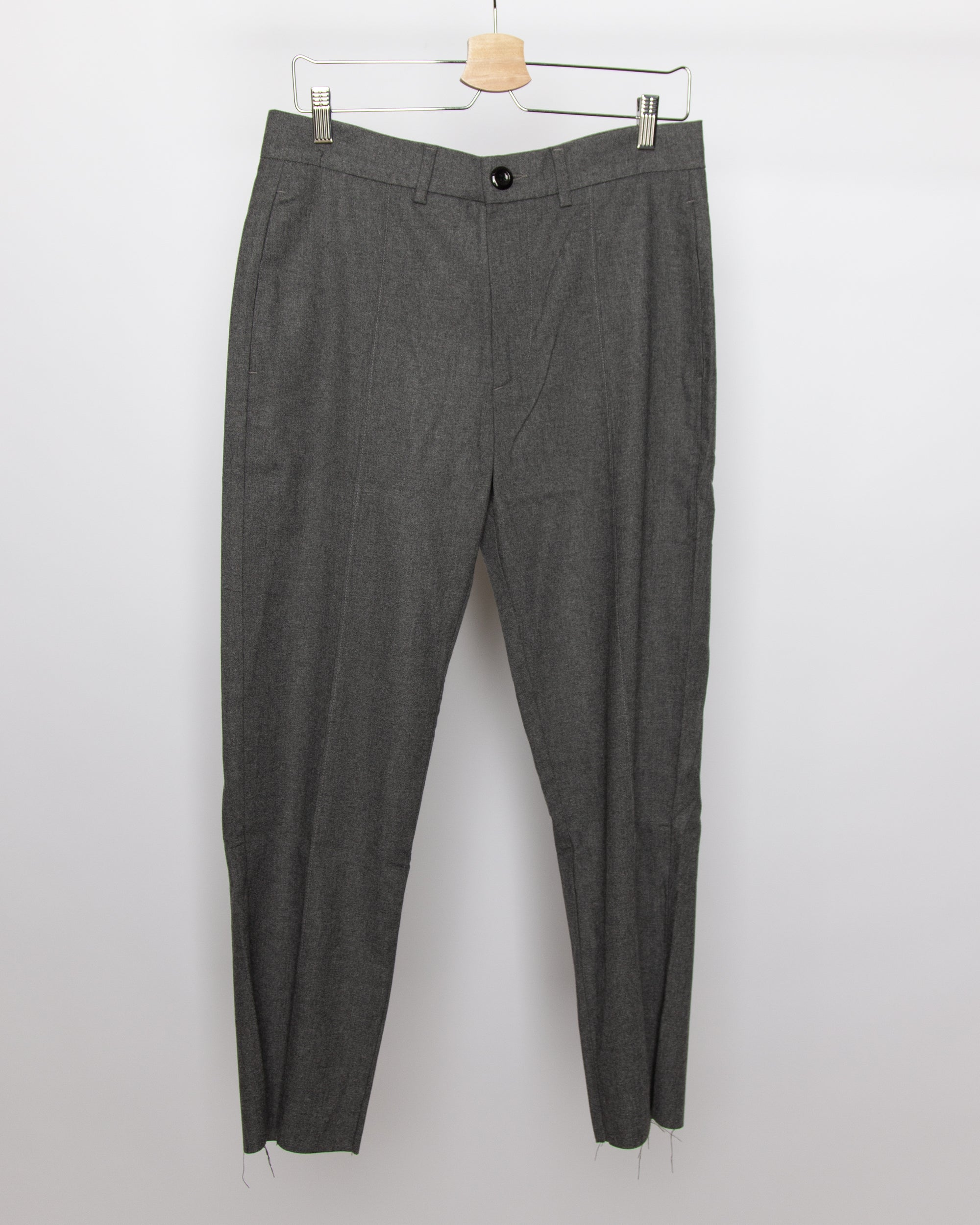 Spoiled Children - Wool Pin Tuck Trouser in Charcoal