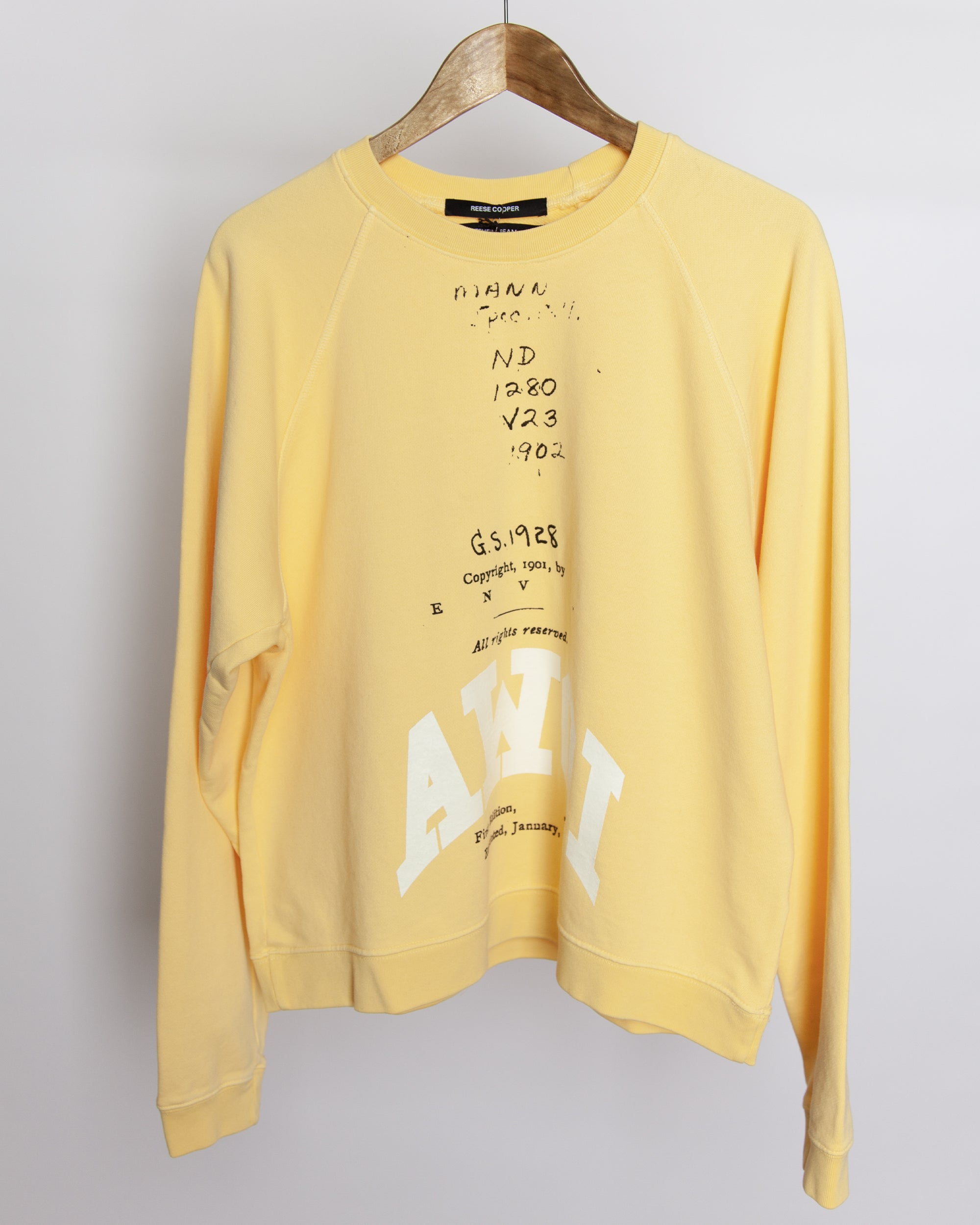 Fever Dream - AWOI Sweatshirt in Yellow