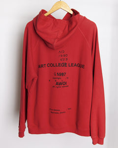 Fever Dream - Art College League Hoodie in Red
