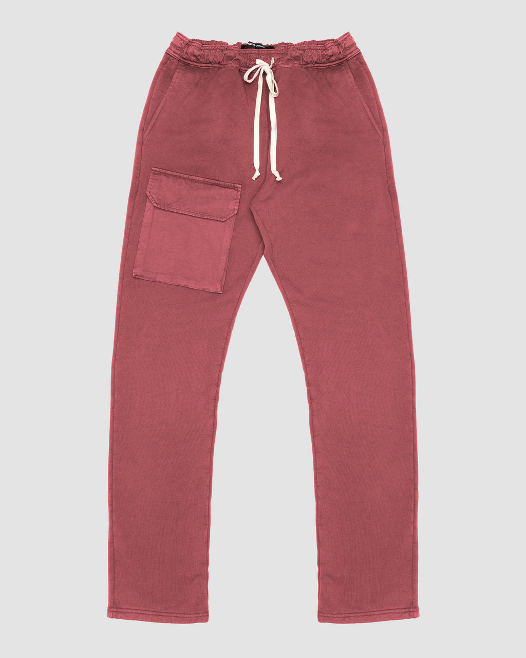 Patch Pocket Sweatpant in Red