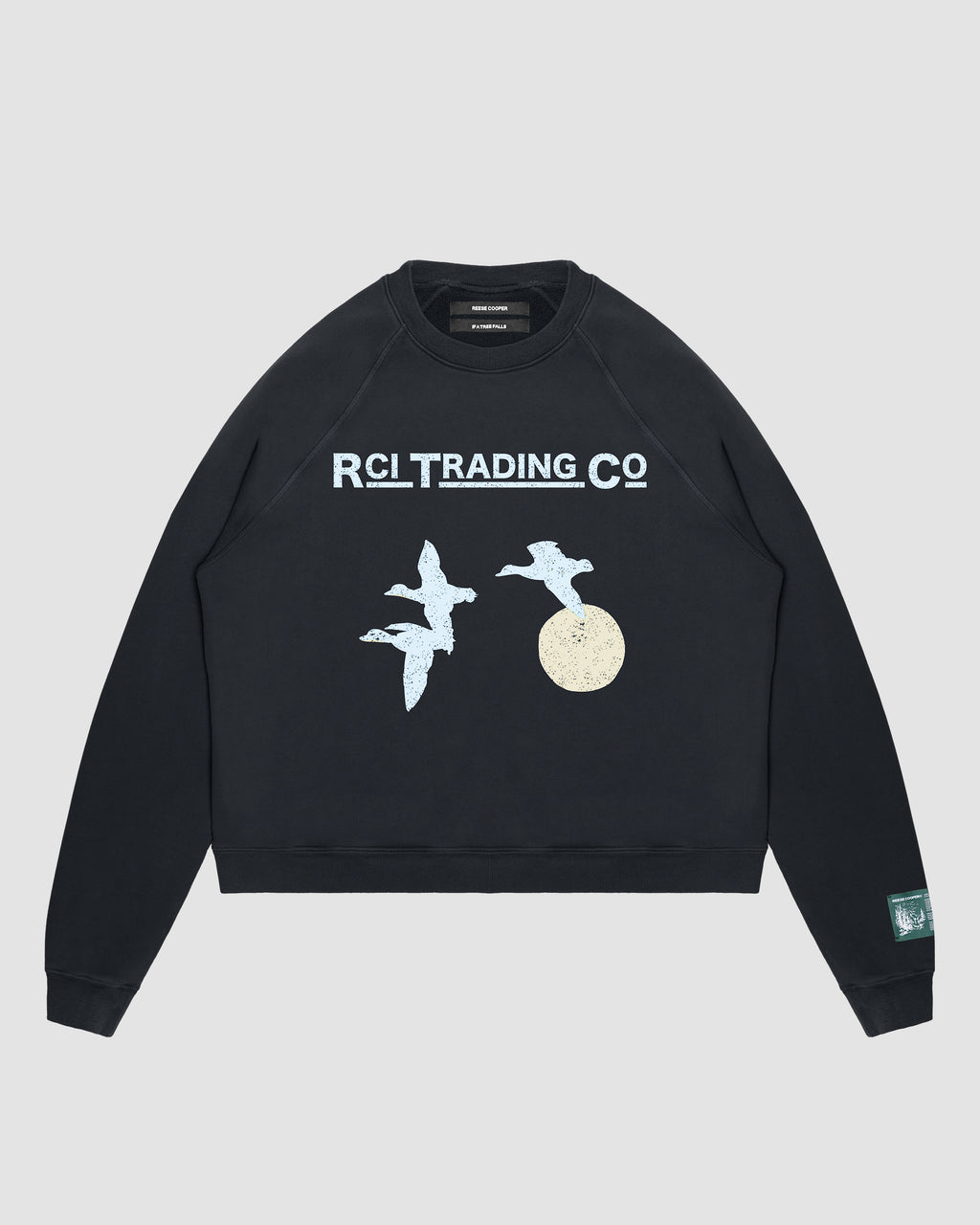 Target Shooting Crewneck Sweatshirt in Black