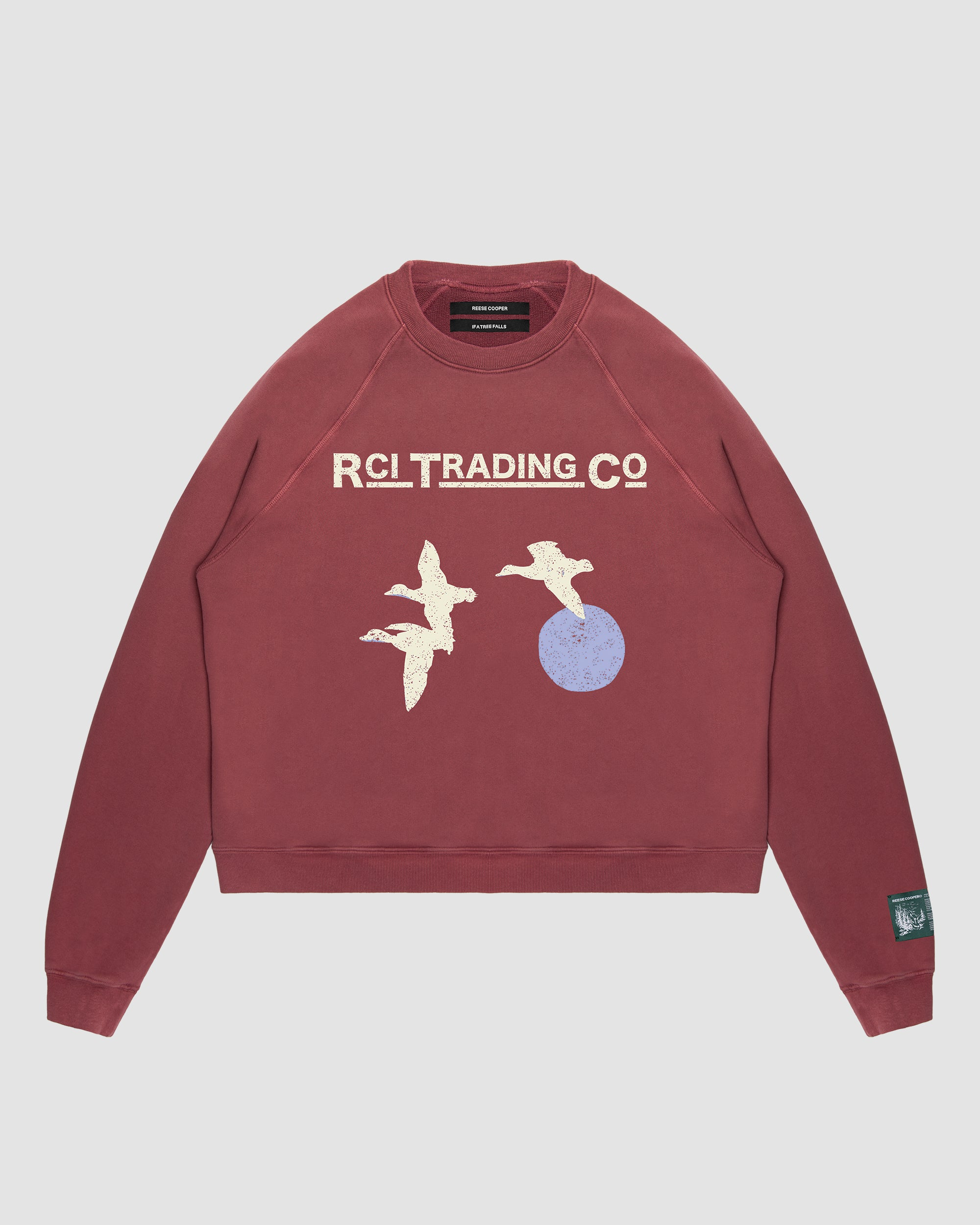 Target Shooting Crewneck Sweatshirt in Red