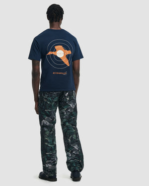 Target Shooting Tee Shirt in Navy