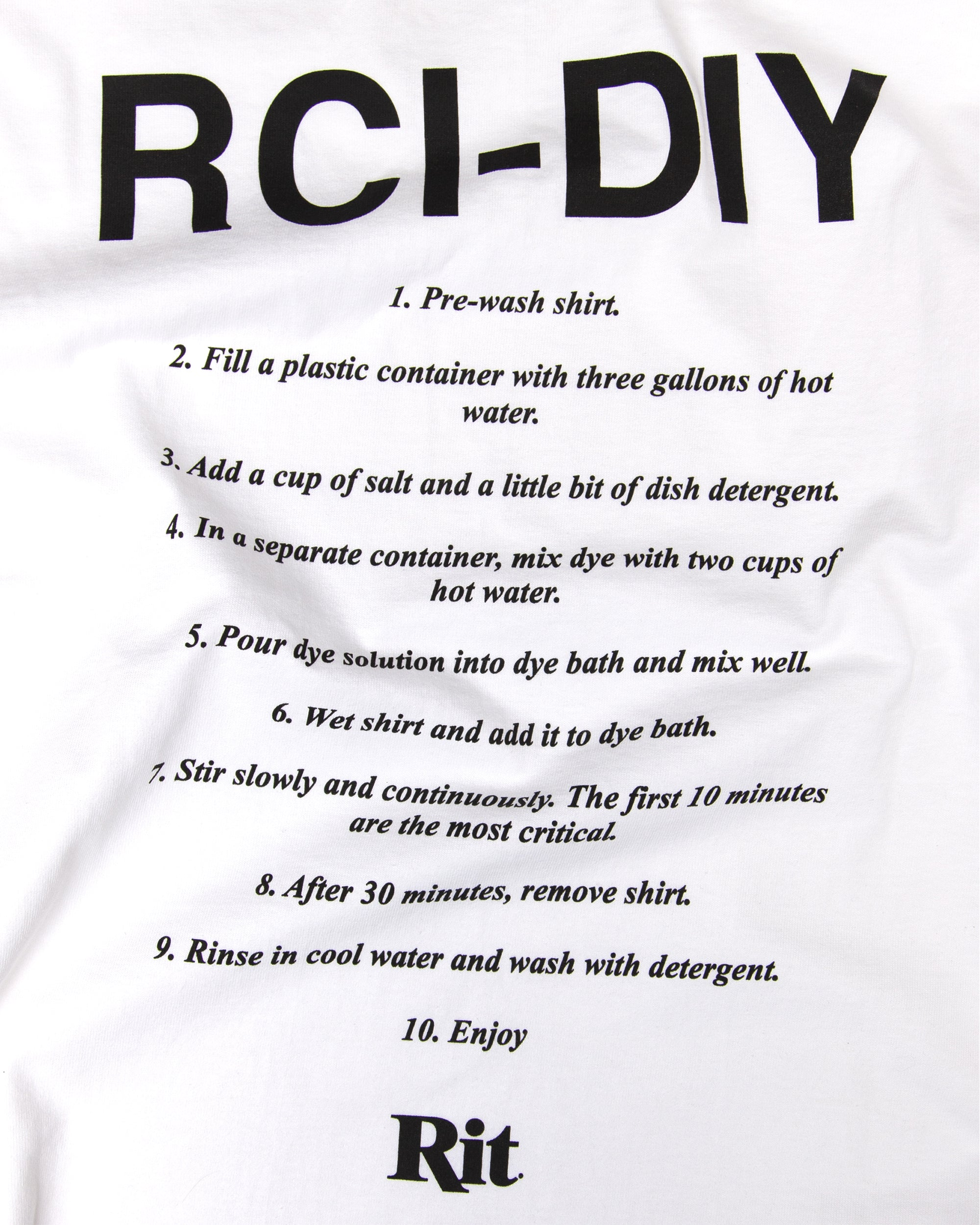 RCI - DIY Tee Shirt in Black