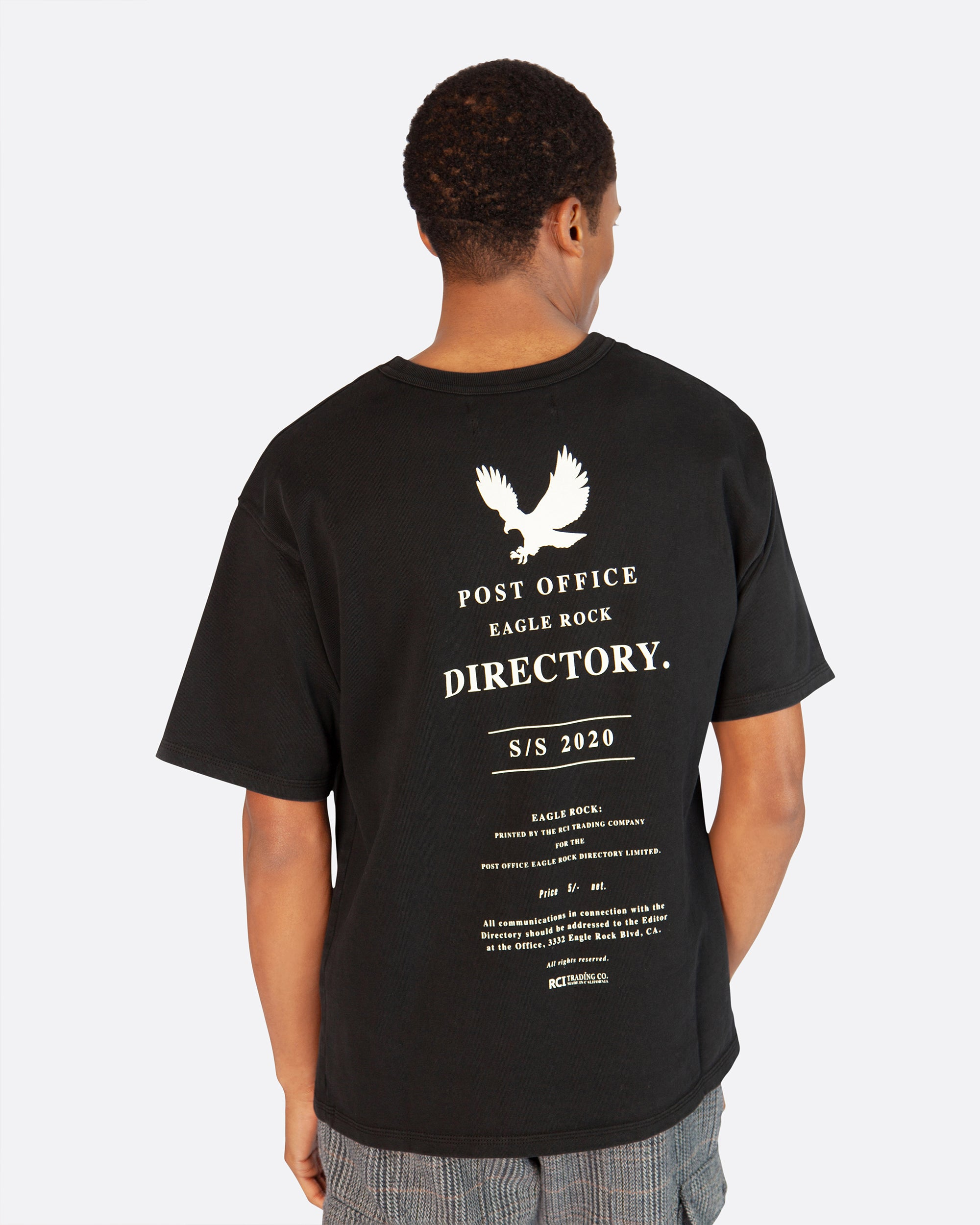 Post Office Directory Tee Shirt in Vintage Black