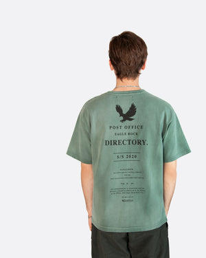 Post Office Directory Aged Tee Shirt in Green