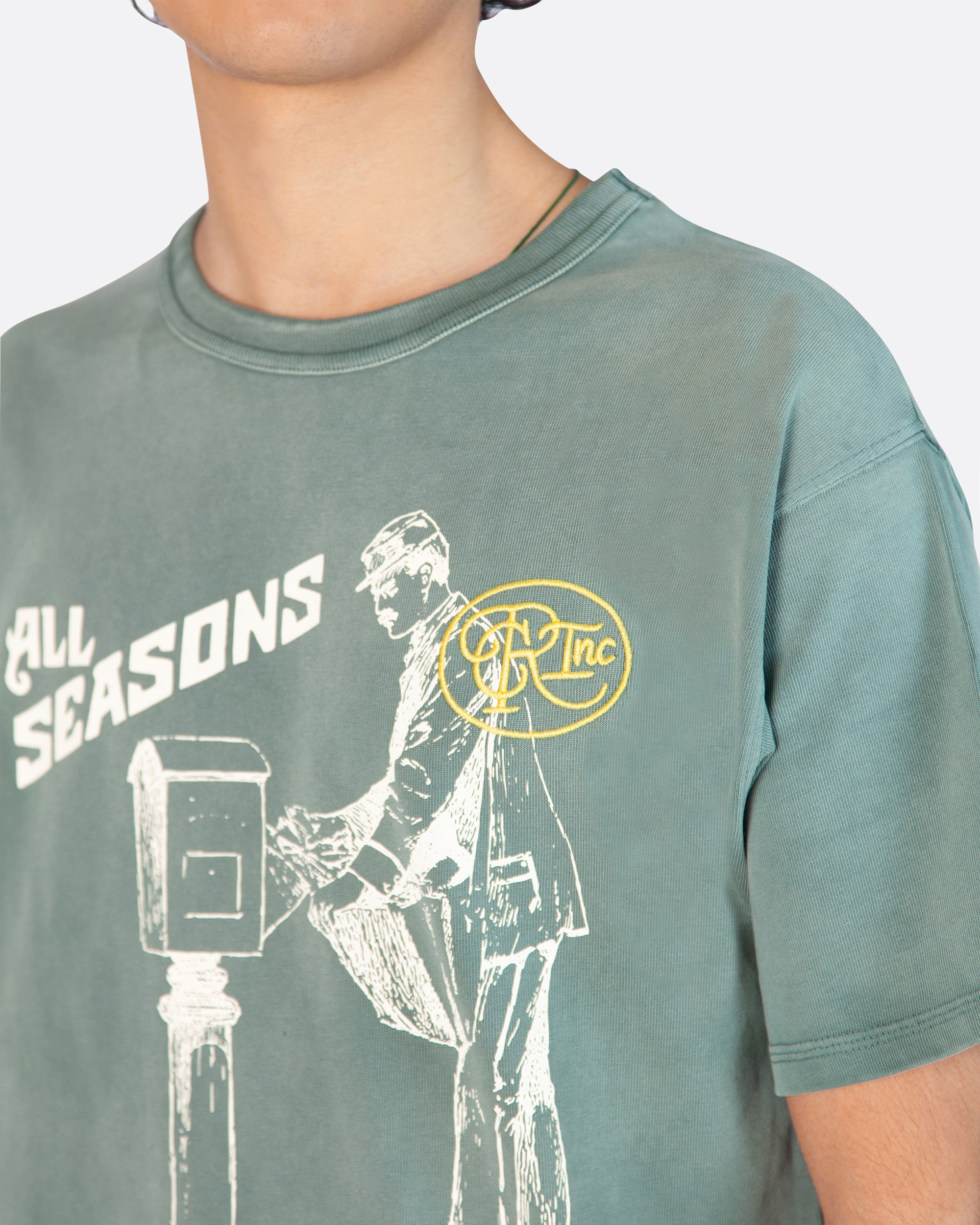 All Seasons Aged Tee Shirt in Green