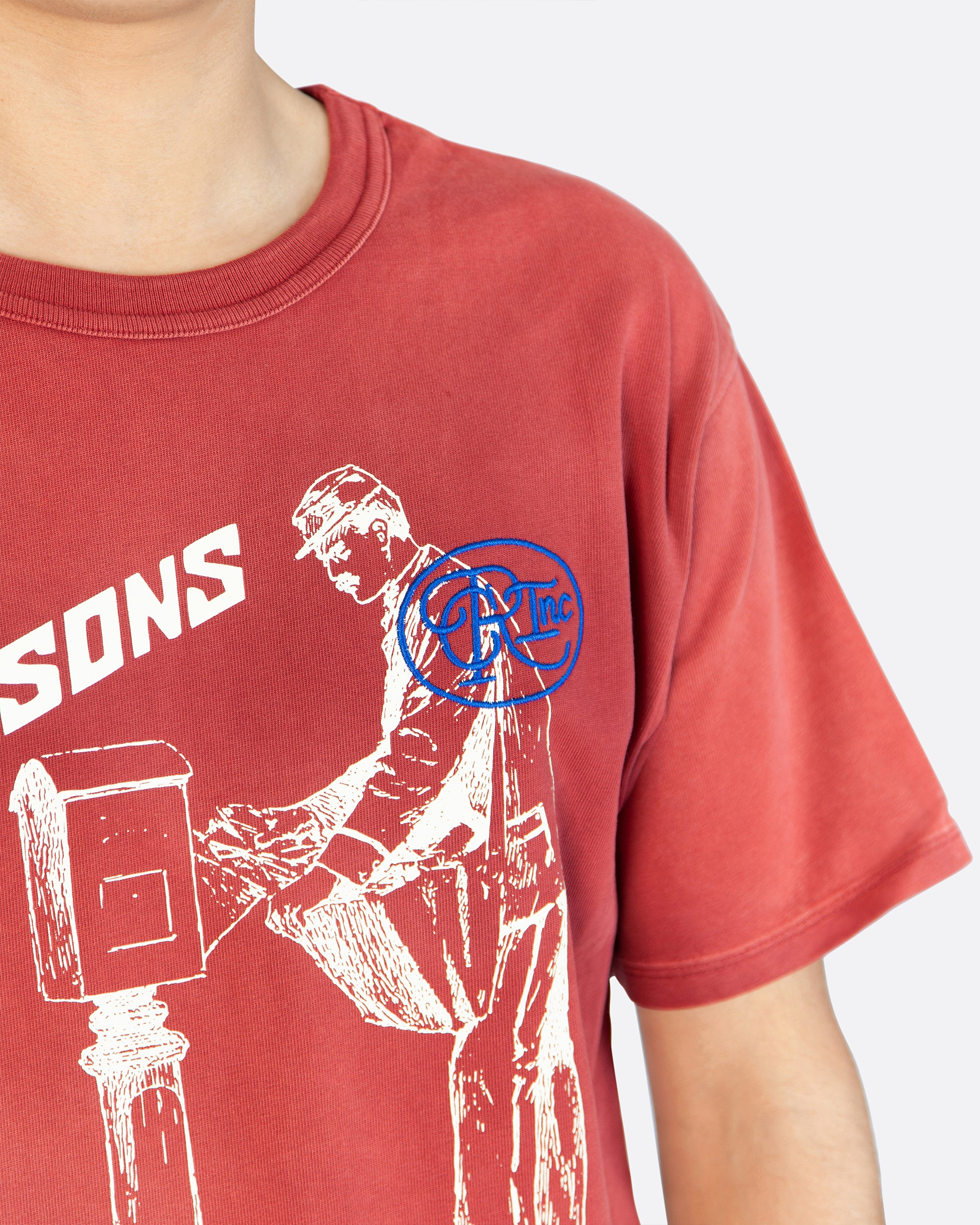 All Seasons Aged Tee Shirt in Red