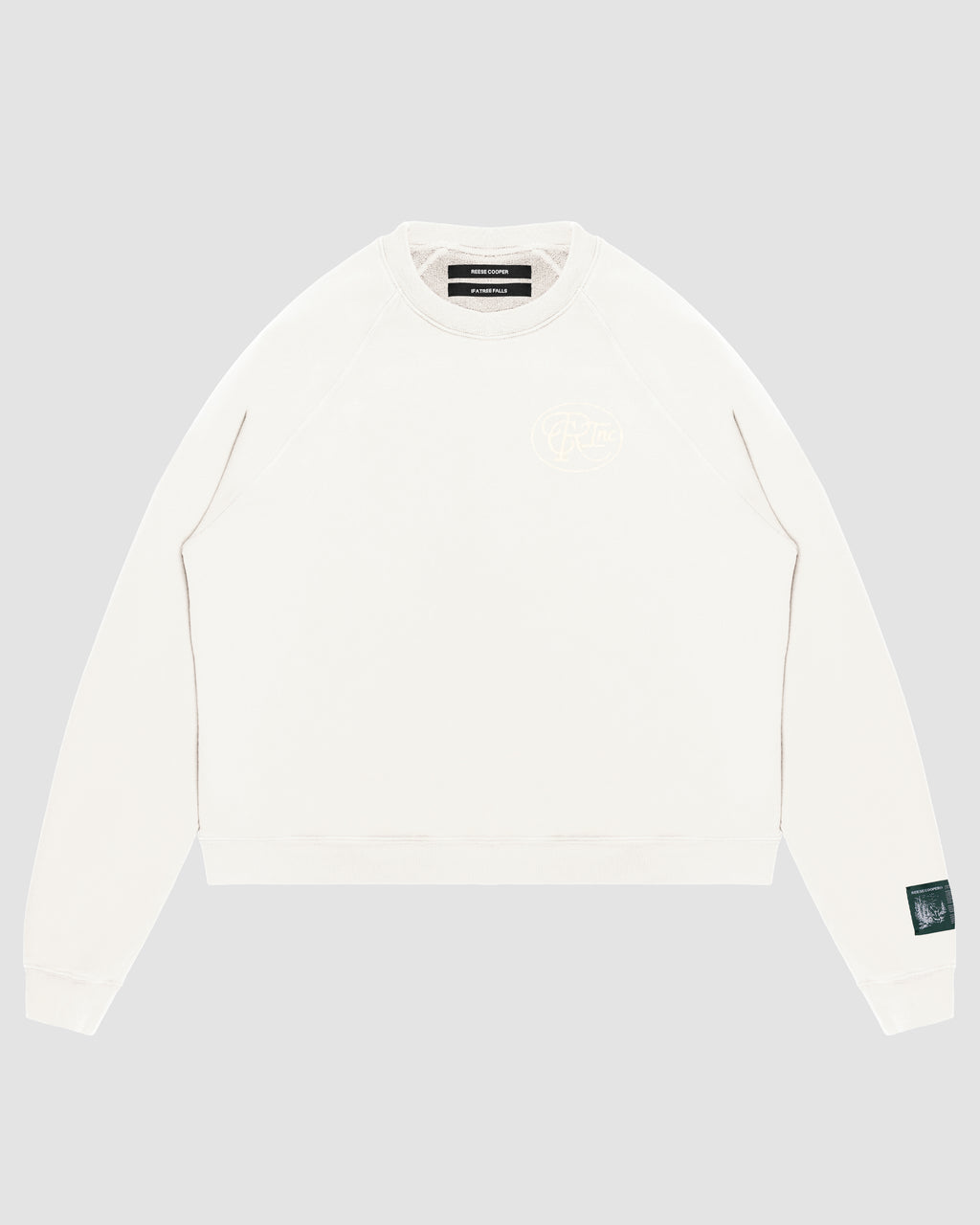 Tonal Logo Crewneck Sweatshirt in White