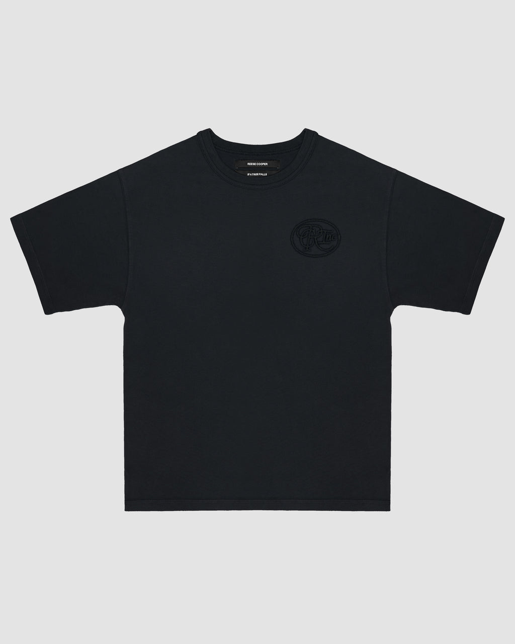 Tonal Logo Tee Shirt in Black
