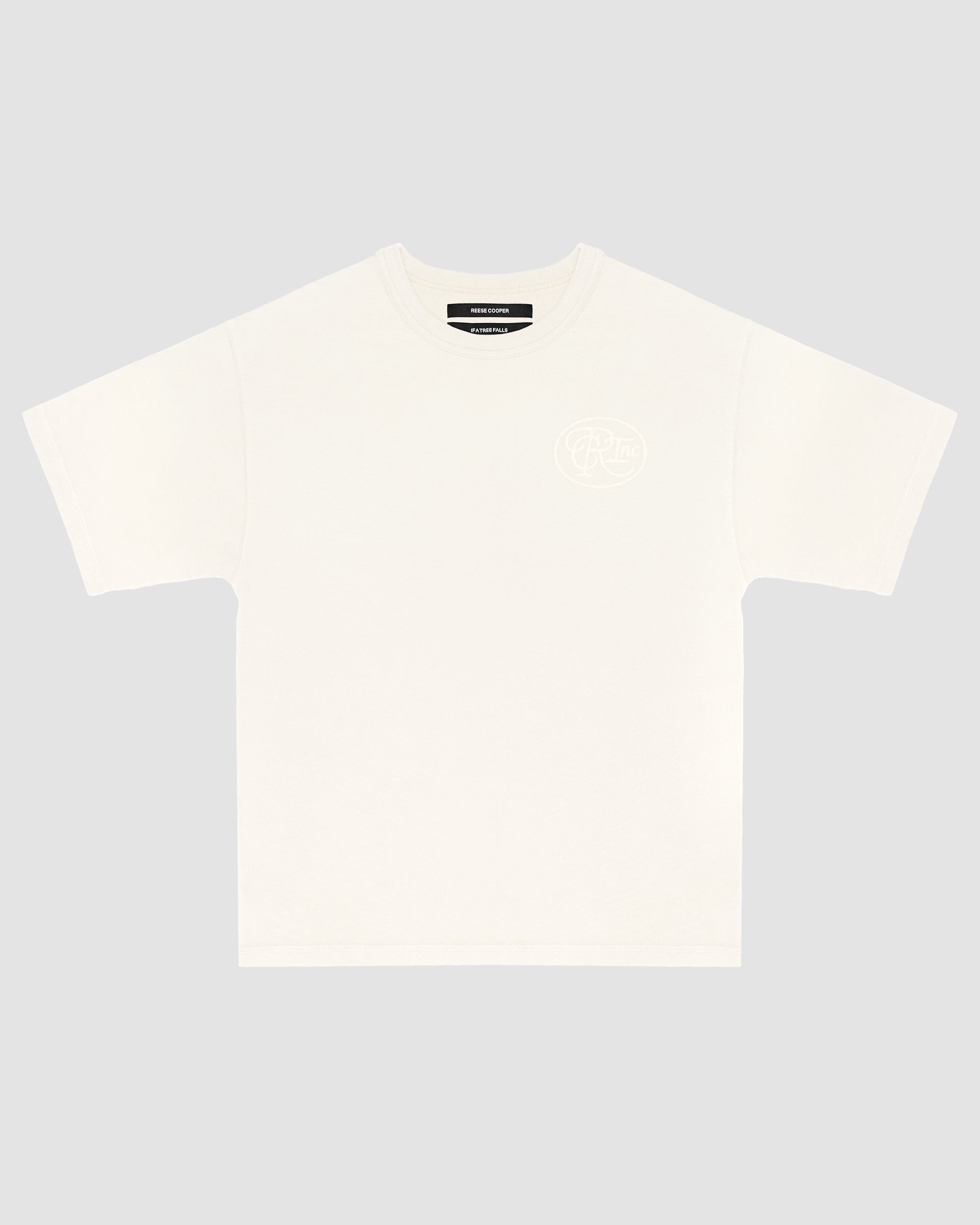 Tonal Logo Tee Shirt in White