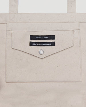 RCI Compass Oversized Tote Bag in Natural