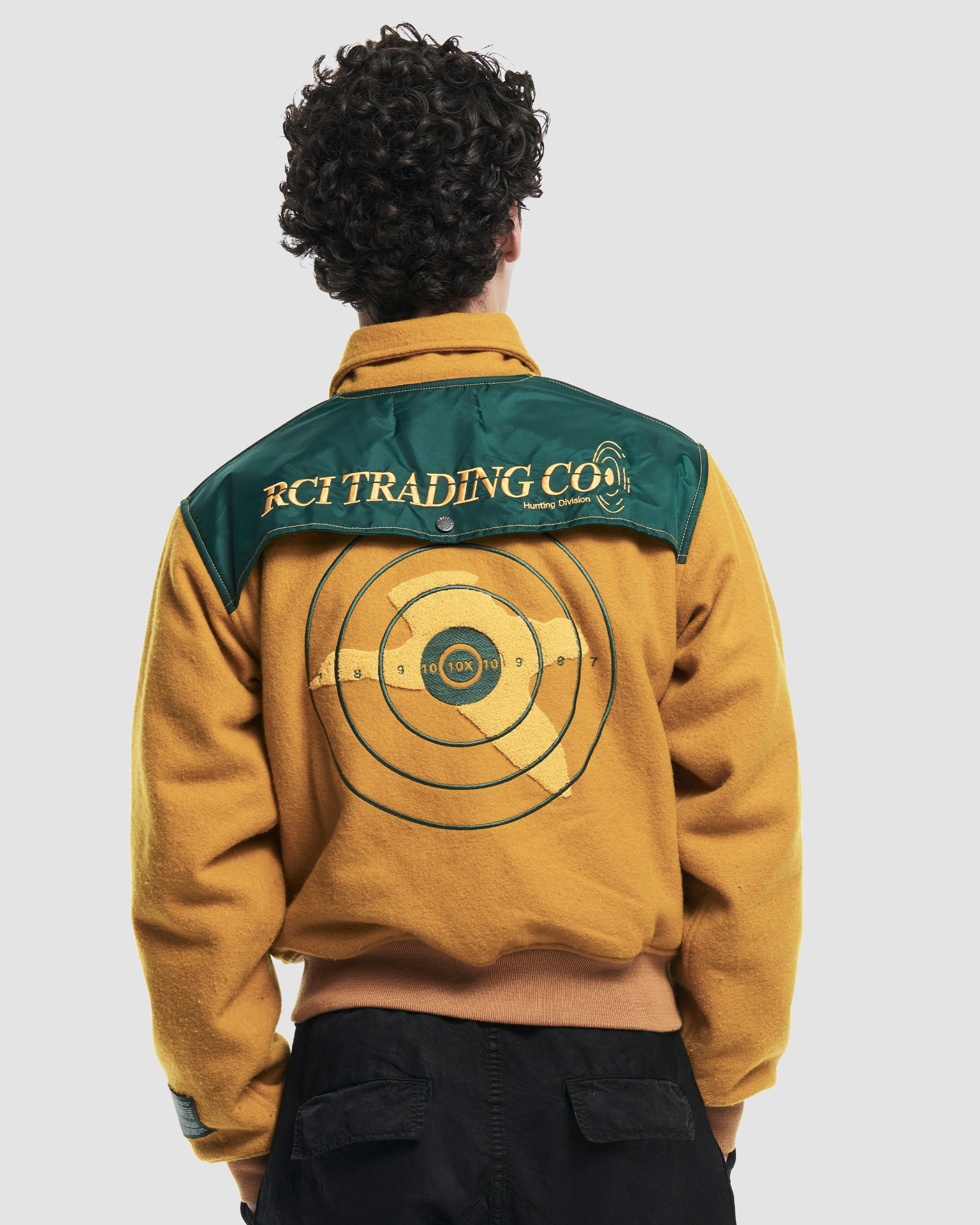 Hunting Division Varsity Jacket in Yellow