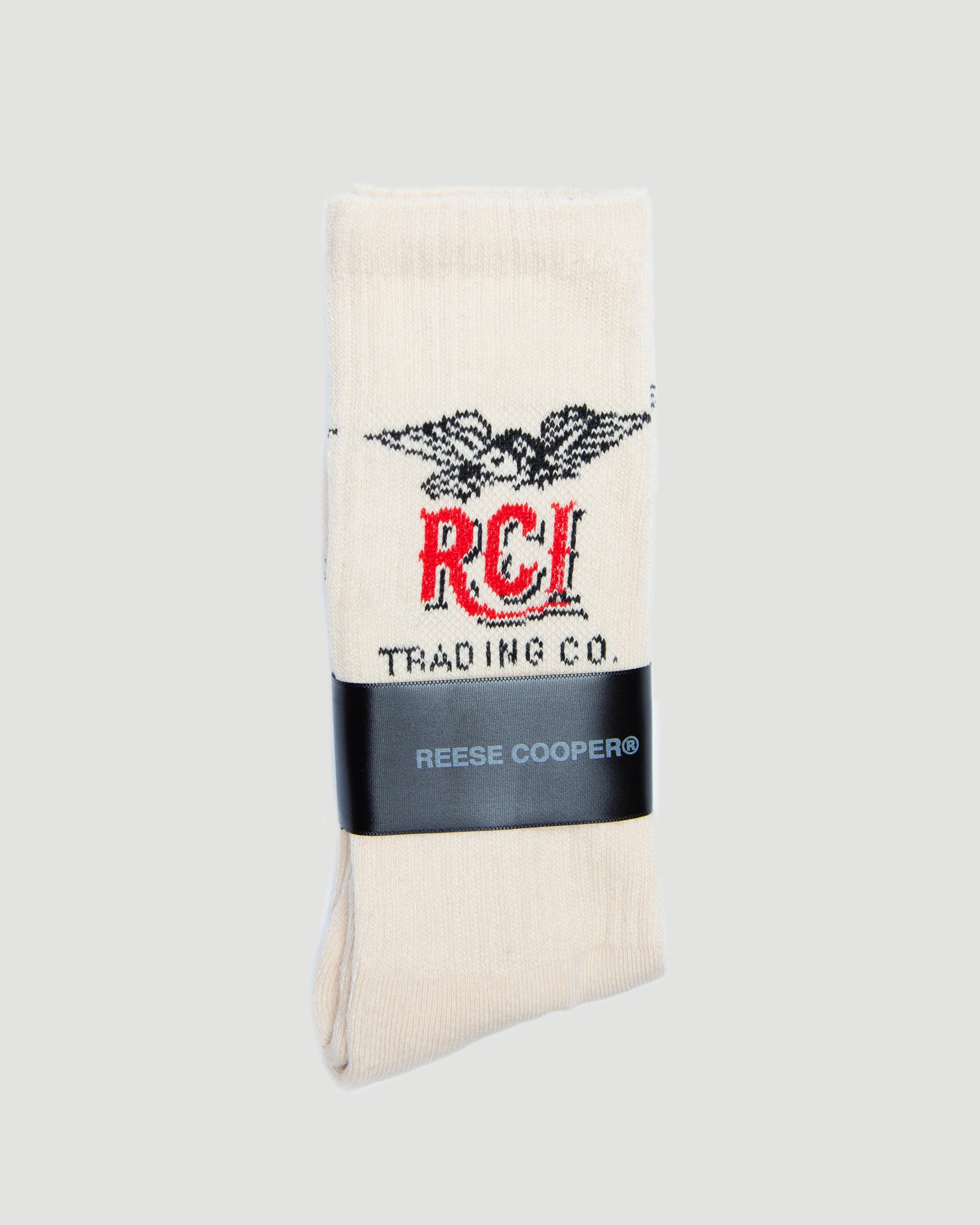 Eagle Logo Sock in Natural