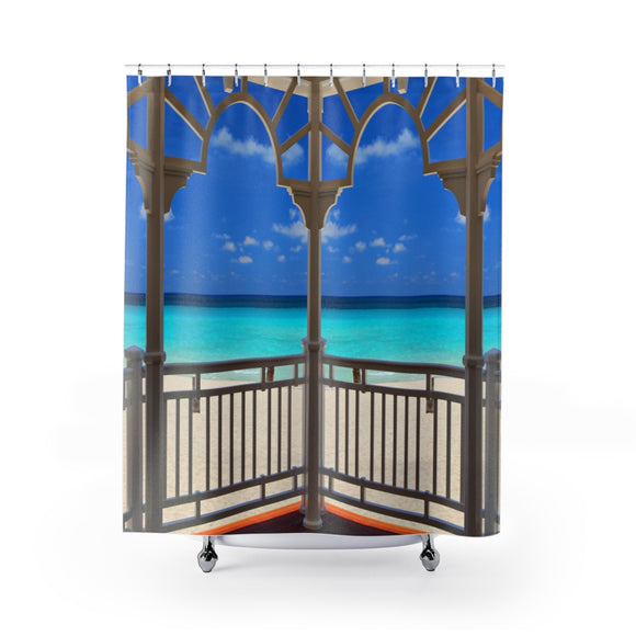 Beach View 113 Shower Curtain