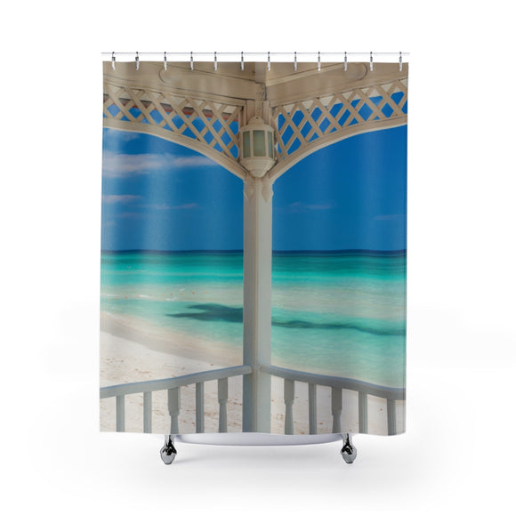 Beach View 111 Shower Curtain