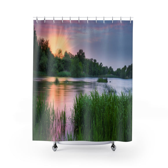 Marsh View 101 Shower Curtain