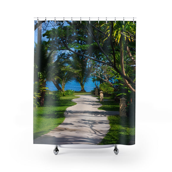 Beach Path 115R Shower Curtain