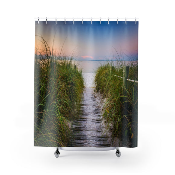 Beach Path 108R Shower Curtain