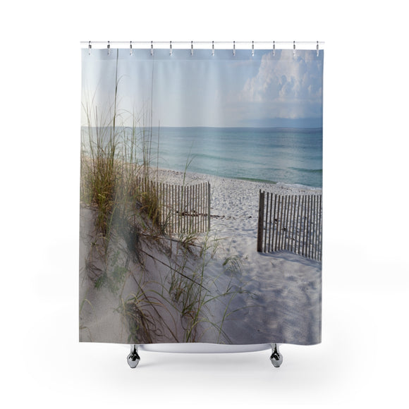 Beach Fence 101 Shower Curtain