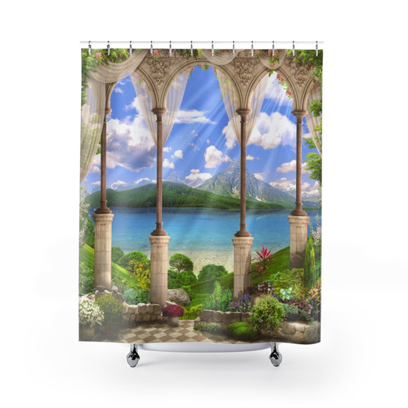 Beach View 103 Shower Curtain