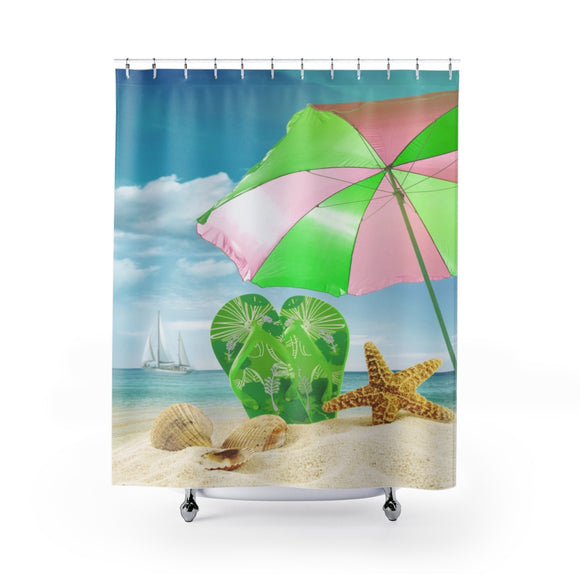 Beach Flip Flops 101 Shower Curtain