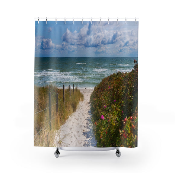 Beach Path 104R Shower Curtain
